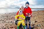 Gearoid, Sean and Elizabeth Gilmartin enjoying the beach in Fenit on New Years Day.