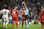 Sevilla FC's Mercado and Mariano Ferreira protest to the referee during Copa del Rey match between Real Madrid and Sevilla FC at Santiago Bernabeu Stadium in Madrid, Spain. January 04, 2017. (ALTERPHOTOS/BorjaB.Hojas)