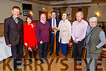 Ready to tie the knot with the bridal party of Tralee Toastmasters who hosted a mock wedding as James Finnegan marries Hillary Costello and the service was done by the Rev Derry Butler in Kerins O'Rahillys Clubhouse on Monday night. <br /> L to r: Sonya Elston, Eamon Banning, James Finnegan, Derry Butler, Hillary Costello, Bernard Cronin and Lily Tangney.