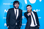 Quique Peinado and Manuel Burque attends to blue carpet of presentation of new schedule of Movistar+ at Queen Sofia Museum in Madrid, Spain. September 12, 2018.  (ALTERPHOTOS/Borja B.Hojas)