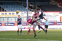 13th March 2021; Dens Park, Dundee, Scotland; Scottish Championship Football, Dundee FC versus Arbroath; Danny Mullen of Dundee scores the opening goal to put his side 1-0 ahead in the 54th minute