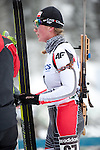 MARTELL-VAL MARTELLO, ITALY - FEBRUARY 02: LEJA Katarzyna (POL) after the Women 7.5 km Sprint at the IBU Cup Biathlon 6 on February 02, 2013 in Martell-Val Martello, Italy. (Photo by Dirk Markgraf)