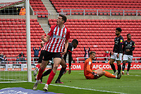 22nd May 2021; Stadium of Light, Sunderland, Tyne and Wear, England; English Football League, Playoff, Sunderland versus Lincoln City; Ross Stewart of Sunderland Celebrates after scoring the first goal for 1-0 in the 13th minute