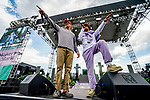 May 15, 2021: Major Lazer's Diplo and Ape Drums perform at Preakness Live on Preakness Stakes Day at Pimlico Race Course in Baltimore, Maryland. Scott Serio/Eclipse Sportswire/CSM