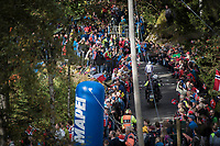 Jarlinson Pantano (COL/Trek-Segafredo) up Mount Fløyen<br /> <br /> Men Elite Individual Time Trial<br /> <br /> UCI 2017 Road World Championships - Bergen/Norway