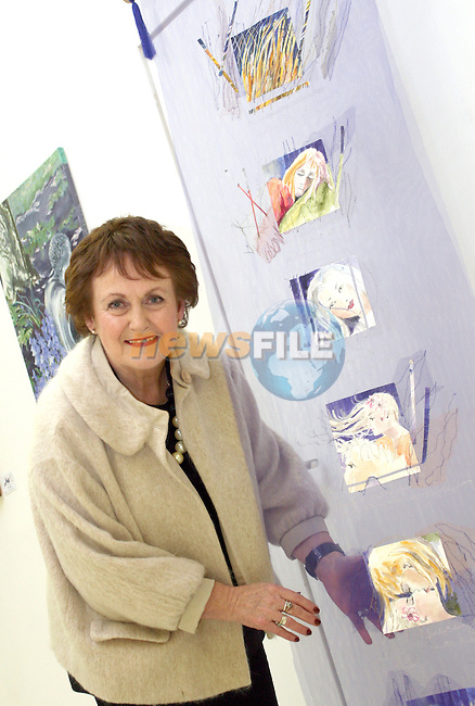 Artist Mary McDonnell at the Opening of the Indigo Art Exhibion in the Laurence Centre...Photo NEWSFILE/Jenny Matthews.(Photo credit should read Jenny Matthews/NEWSFILE)....This Picture has been sent you under the condtions enclosed by:.Newsfile Ltd..The Studio,.Millmount Abbey,.Drogheda,.Co Meath..Ireland..Tel: +353(0)41-9871240.Fax: +353(0)41-9871260.GSM: +353(0)86-2500958.email: pictures@newsfile.ie.www.newsfile.ie.FTP: 193.120.102.198.