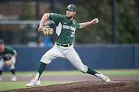 Michigan State Spartans pitcher Joe Mockbee (31) ACTION against the Michigan Wolverines on May 19, 2017 at Ray Fisher Stadium in Ann Arbor, Michigan. Michigan defeated Michigan State 11-6. (Andrew Woolley/Four Seam Images)