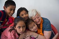 Nepal, Kathmandu. OlgaPuri Children's Village opening. Olga Murray, founder.