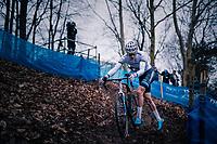 European CX Champion VAN DER POEL Mathieu (NED/Corendon-Circus) going for yet another win<br /> <br /> Brussels Universities Cyclocross (BEL) 2019<br /> Elite Men's Race<br /> DVV Trofee<br /> ©kramon