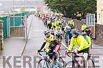 The start of the Dingle Peninsula Cycling Challenge on Saturday morning.