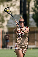 NEWTON, MA - MAY 14: Phoebe Day #29 of Boston College passes the ball during NCAA Division I Women's Lacrosse Tournament first round game between Fairfield University and Boston College at Newton Campus Lacrosse Field on May 14, 2021 in Newton, Massachusetts.