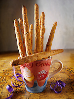 Wholemeal organic bread stick snacks