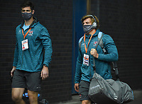 Saturday 5th September 2020 | PRO14 Semi-Final<br /> <br /> Sam Carter and Jordi Murphy arrive for the Guinness PRO14 Semi-Final between Edinburgh and Ulster at the BT Murrayfield Stadium Edinburgh, Scotland. Photo by David Gibson / Dicksondigital