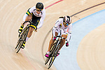 Kaarle McCulloch of the Australia team and Juliana Gaviria Rendon of the Colombia compete in the Women's Sprint - 1/16 Finals as part of the 2017 UCI Track Cycling World Championships on 13 April 2017, in Hong Kong Velodrome, Hong Kong, China. Photo by Chris Wong / Power Sport Images