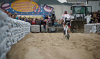 David Van der Poel (NLD/BKCP-Corendon) flying over the sand<br /> <br /> Jaarmarktcross Niel 2015  Elite Men & U23 race