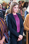 Queen Letizia of Spain during the minute's silence in remembrance for the victims of the terrorist attack in Paris. in Madrid, November 16, 2015.<br /> (ALTERPHOTOS/BorjaB.Hojas)
