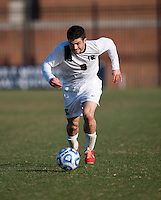 Sean Conerty (9) of Michigan State sprints forward during the third round of the NCAA tournament at Shaw Field in Washington, DC. Michigan State defeated Georgetown, 1-0.