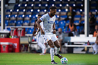 LAKE BUENA VISTA, FL - JULY 22: Kendall Waston #2 of FC Cincinnati dribbles the ball during a game between New York Red Bulls and FC Cincinnati at Wide World of Sports on July 22, 2020 in Lake Buena Vista, Florida.