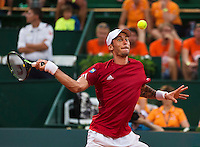 Austria, Kitzbühel, Juli 17, 2015, Tennis, Davis Cup, Second match between Robin Haase (NED and Andreas Haider-Maurer (AUT), pitctred: Andreas Haider-Maurer <br /> Photo: Tennisimages/Henk Koster