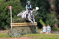 4th September 2021; Bicton Park, East Budleigh Salterton, Budleigh Salterton, United Kingdom: Bicton CCI 5* Equestrian Event; Izzy Taylor riding Fonbherna Lancer through the EHOA Dewpond,