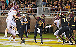 Florida State quarterback Deondre Francois (12) throws out of his own end zone against Virginia Tech n the 2nd half of an NCAA college football game in Tallahassee, Fla., Monday, Sept. 3, 2018. Virginia Tech defeated Florida State 24-3.  (AP Photo/Mark Wallheiser)