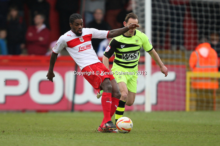 Anthony Grant of Stevenage passes. Stevenage v Yeovil Town- npower League 1 -  Lamex Stadium, Stevenage - 13th April, 2013. © Kevin Coleman 2013.. . . . .. . . .  . . .  .