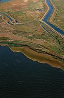 aerial photograph of  Grizzly Island, Suisun Marsh,  Solano County, California