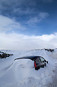 01/02/15<br /> <br /> After more overnight snow a car is buried in snowdrifts near Castleton in the Derbyshire Peak District.<br /> <br /> All Rights Reserved - F Stop Press.  www.fstoppress.com. Tel: +44 (0)1335 418629 +44(0)7765 242650