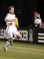 Eddie Lewis follows the ball. San Jose Earthquakes tied Los Angeles Galaxy 1-1 at the McAfee Colisum in Oakland, California on April 18, 2009.