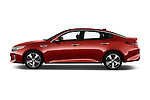 Car Driver side profile view of a 2018 KIA Optima SX 4 Door Sedan Side View