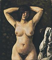 GUTIERREZ SOLANA, José (1886-1945). Nude. Oil on canvas. Private Collection.
