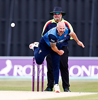 Darren Stevens bowls for Kent during Kent Spitfires vs Lancashire, Royal London One-Day Cup Cricket at The Kent County Cricket Ground on 28th July 2021