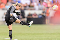 Houston, TX - Sunday Oct. 09, 2016: Kelsey Wys during the National Women's Soccer League (NWSL) Championship match between the Washington Spirit and the Western New York Flash at BBVA Compass Stadium. The Western New York Flash win 3-2 on penalty kicks after playing to a 2-2 tie.