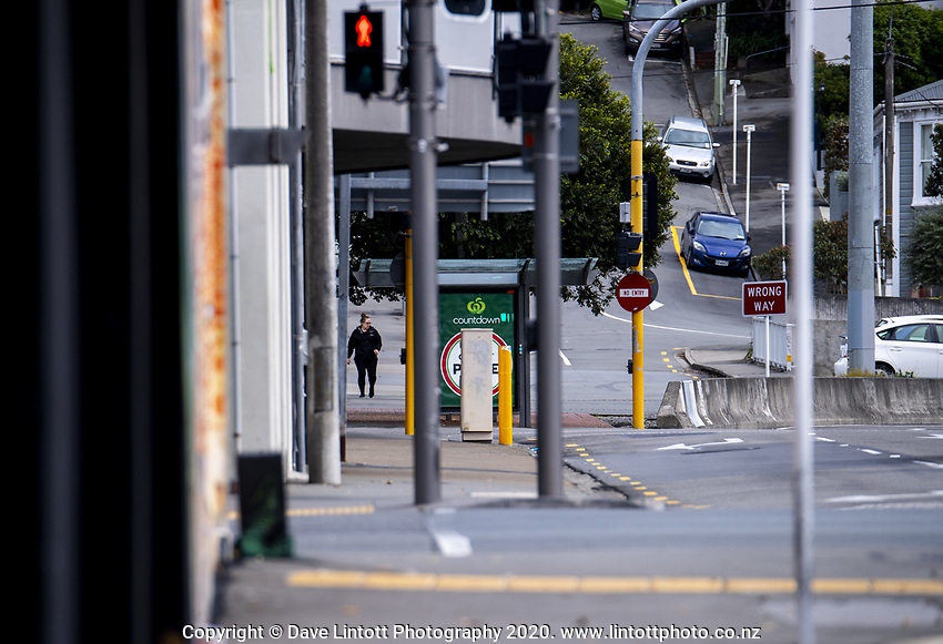 Vivian Street. Wellington CBD during lockdown for the COVID19 pandemic in Wellington, New Zealand on Friday, 3 April 2020. Photo: Dave Lintott / lintottphoto.co.nz