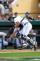 Detroit Tigers catcher Bryan Holaday #76 during a exhibition game vs. the Florida Southern Mocs at Joker Marchant Stadium in Lakeland, Florida;  February 25, 2011.  Detroit defeated Florida Southern 17-5.  Photo By Mike Janes/Four Seam Images