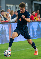 WASHINGTON, DC - SEPTEMBER 6: Virginia defender Paul Wiese (4) on the attack during a game between University of Virginia and University of Maryland at Audi Field on September 6, 2021 in Washington, DC.