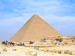The Great Pyramid at Giza near Cairo, Egypt.