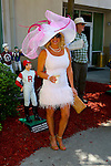March 28, 2015: Hats during the Louisiana Derby Day at the New Orleans Fairgrounds. Steve Dalmado/ESW/CSM