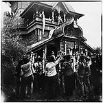 Red Guards attack Saint Nicholas, the wooden Russian Orthodox church before tearing it to pieces. Harbin, 23 August 1966