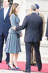 Queen Letizia of Spain receive president of Portugal Marcelo Rebelo de Sousa at the Royal Palace in Madrid, Spain. April 16, 2018. (ALTERPHOTOS/Borja B.Hojas)