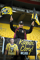 A Cory Jane fan during the Super Rugby match between the Hurricanes and Jaguares at Westpac Stadium, Wellington, New Zealand on Saturday, 9 April 2016. Photo: Dave Lintott / lintottphoto.co.nz