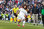 Real Madrid's Marcelo Vieira during La Liga match between Real Madrid and Girona FC at Santiago Bernabeu Stadium in Madrid, Spain. February 17, 2019. (ALTERPHOTOS/A. Perez Meca)