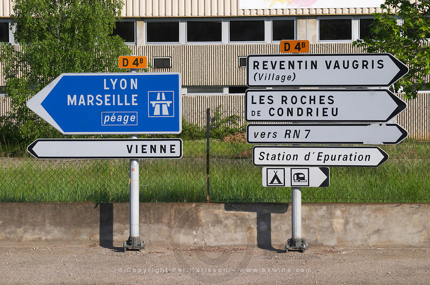 road sign rhone france
