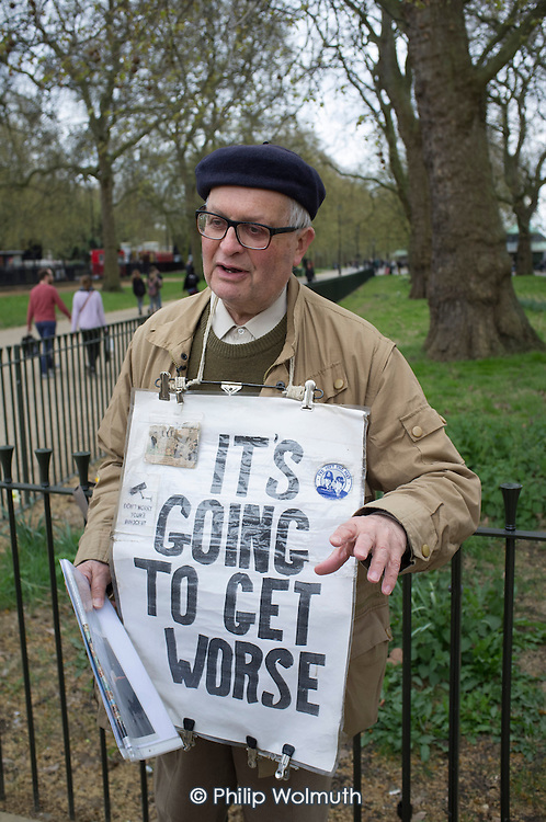 It's Going to Get Worse. Bob Rogers, Speakers' Corner, Hyde Park London.