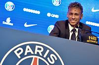 Conférence de presse de Neymar pour son arrivée au PSG. Paris, France, 04.08.2017. # CONFERENCE DE PRESSE DE NEYMAR POUR SON ARRIVEE AU PSG