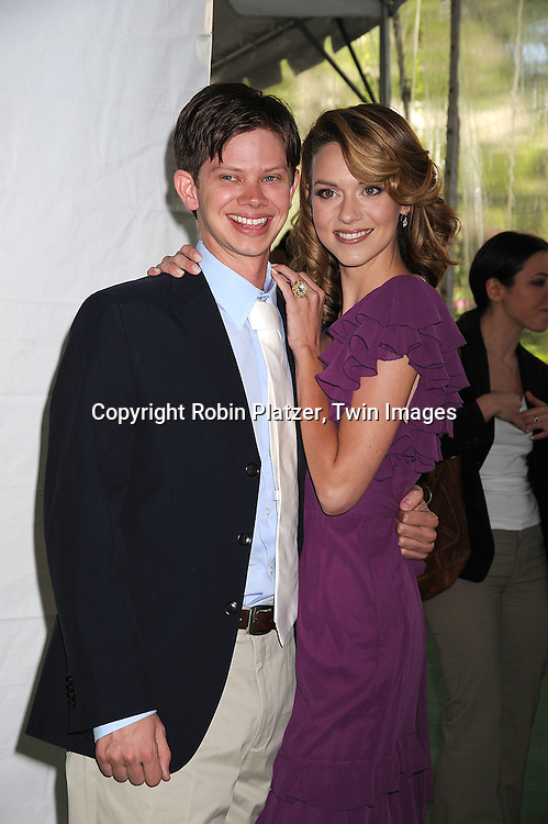 """actor Lee Norris of One Tree Hill and Hilarie Burton  of """"One Tree Hill""""..posing for photographers at The CW Upfront Announcement of their 2008-2009 Fall Season on May 13, 2008 at Lincoln Center.....Robin Platzer, Twin Images"""