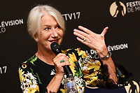 Dame Helen Mirren during Press Conference at the 57th Monte-Carlo TV Festival. # 57EME FESTIVAL DE TELEVISION DE MONTE CARLO - CONFERENCE DE PRESSE HELEN MIRREN