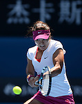 Na Li (CHN) defeats Eugenie Bouchard (CAN) 6-2, 6-4 at the Australian Open in Melbourne Australia on January 23, 2014