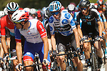 Polka Dot Jersey Romain Baedet (FRA) Team DSM in the peloton during Stage 16 of La Vuelta d'Espana 2021, running 180km from Laredo to Santa Cruz de Bezana, Spain. 31st August 2021.     <br /> Picture: Luis Angel Gomez/Photogomezsport   Cyclefile<br /> <br /> All photos usage must carry mandatory copyright credit (© Cyclefile   Luis Angel Gomez/Photogomezsport)