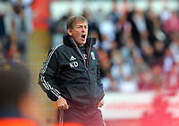 FAO SPORTS PICTURE DESK<br /> Pictured: Liverpool manager Kenny Dalglish. Sunday, 13 May 2012<br /> Re: Premier League football, Swansea City FC v Liverpool FC at the Liberty Stadium, south Wales.